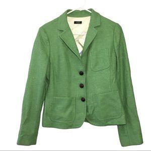 J.Crew Scottish Cloth Woven Green Blazer M